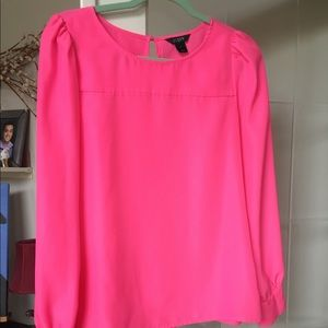 J Crew pink crepe shirt. Size small.